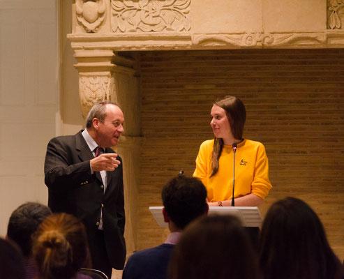 Mélanie Lercier, lauréate de la bourse 2018 et Pierre Le Roux, président de la bourse (Photo Elena Landmann pour FCAO)