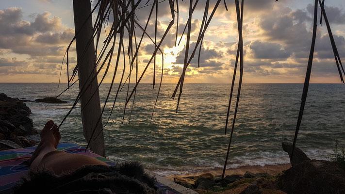 ...mit tollem Sonnenuntergang