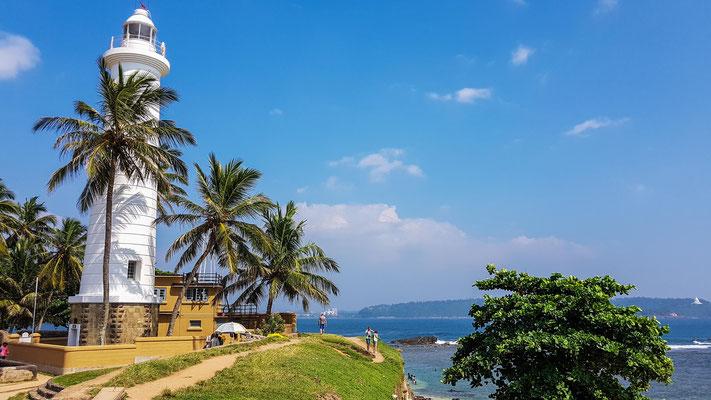 Galle liegt schön an der Küste mit einem hübschen Leuchtturm