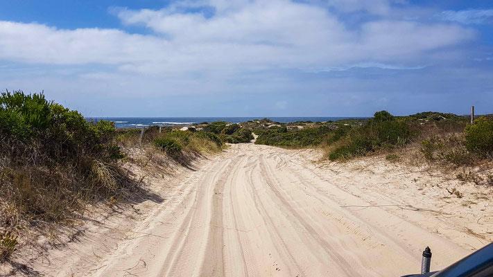 Zufahrt zum Beach