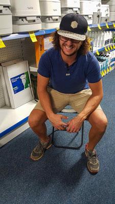 In Sachen Camping-Ausrüstung fehlt es dir in Australien an nichts. Kacken für Fortgeschrittene! Ganz alles haben wir dann doch nicht gekauft. ;-)