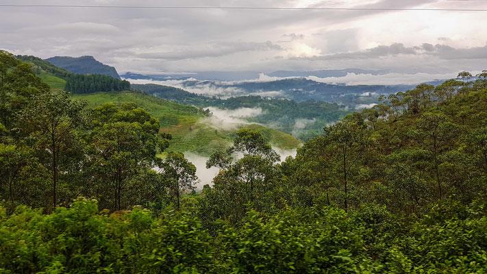 Panorama auf der Zugfahrt von Kandy nach Ella