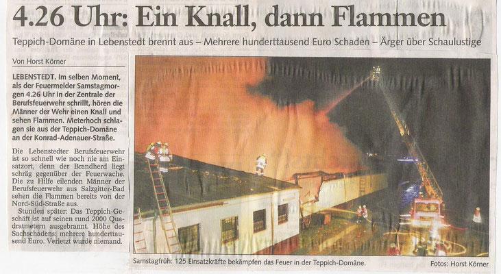 Teppich domäne  Großbrand Teppich Domäne 2004 - Freiwillige Feuerwehr Salzgitter ...
