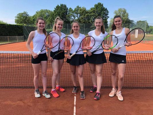 Von links nach rechts: Jette Hafermann, Madleen Stärk, Emma Wessels, Linda Garvels, Janne Hafermann