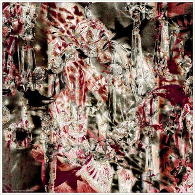"""Foulard soie """"Cristales"""" 130x130 cm"""