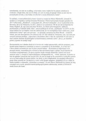 "Recenzie la volumul ""A-si face loc"" de Marco Martinelli (pag. 2)"