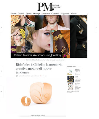 Nobahar design milano contemporary jewelries on Preziosa Magazine