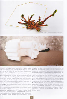 The Rebirth Of Lotus cuff by Nobahar design Milano contemporary jewelries in Expo Art magazine