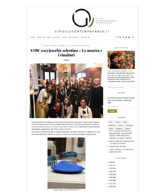 Nobahar Design Milano, contemporary jewelries, on Gioiello Contemporaneo for Venice Design Week