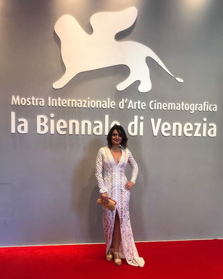 The Rebirth Of Lotus Bracelet by Nobahar Design Milano, contemporary jewelries, on Red Carpet of Venice Film Festival