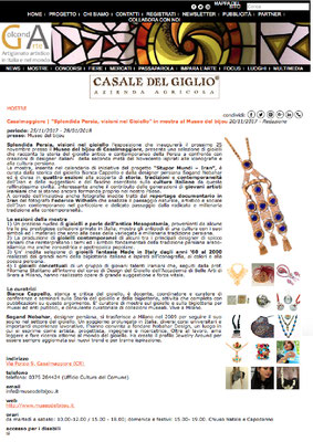 Nobahar Design Milano, contemporary jewelries, in GolCondeArte magazine