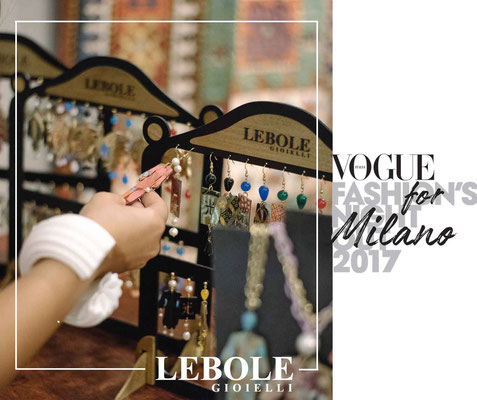 Nobahar Design Milano contemporary jewelries with Lebole on vogue fashion nights
