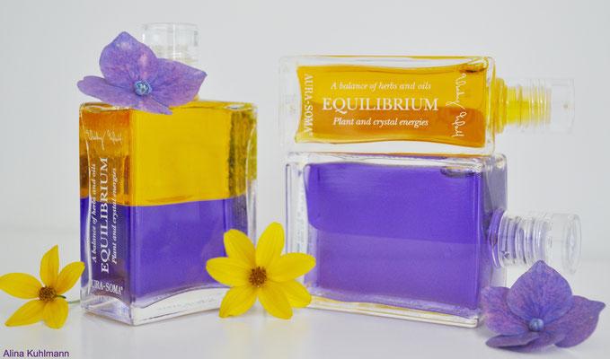 Aura Soma B 18 (gelb/violett), B 41 (gelb/gelb), B 16 (violett/violett)
