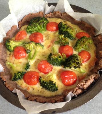 Tartes au saumon et aux légumes (farine de châtaigne)