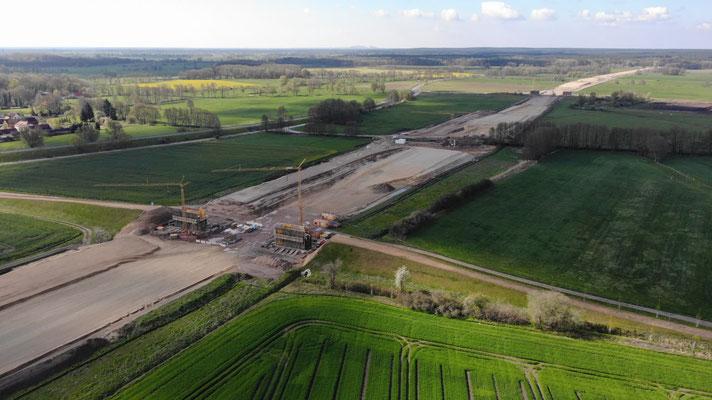 Bilder Vogelflug_Bau A14 durch die Altmark_02_Mai 2021
