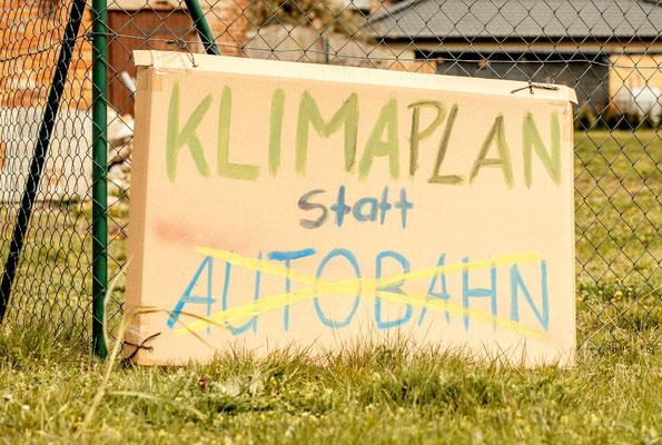 Protest gegen Korso A14-Befürworter am 24.04.2021, c Frauke Ahrend Photography