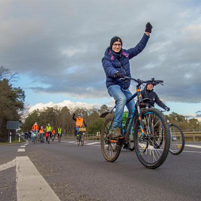 Fahrraddemo am 19.03.2021 in und rund um Stendal für eine Verkehrswende, c Carl Ballach