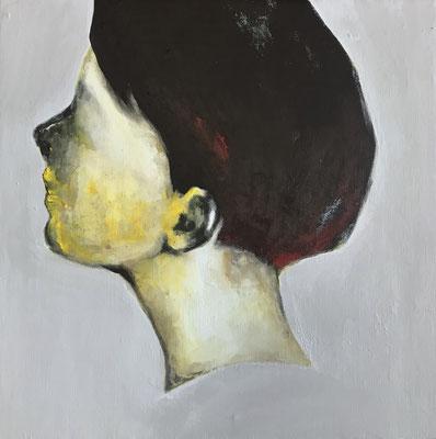 Listening carefully 06 273x273mm (S3) acrylic on canvas 2018