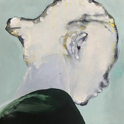 Listening carefully 07 333x333mm (S4) acrylic on canvas 2018