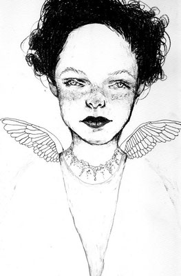 『Miss Mercredi』A4(210x297mm) 鉛筆、画用紙