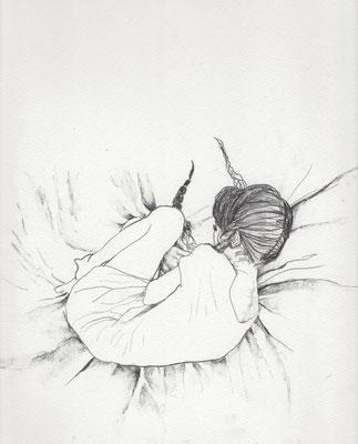 『Miss Samedi』A4(210x297mm) 鉛筆、画用紙