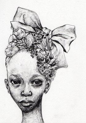 『Miss Vendredi』A4(210x297mm) 鉛筆、画用紙