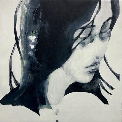 Listening carefully 04  acrylic on canvas   300x300mm   2017