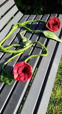 Gefilzte Blüten von Teilnehmerin Zorka