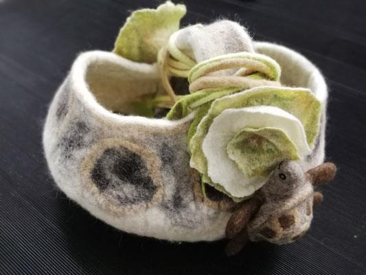 Filzkorb Schildkröte von Heike Giesbert