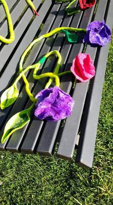 Gefilzte Blüte von einer Teilnehmerin