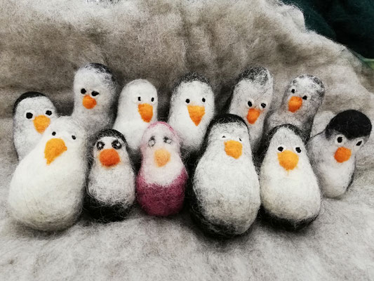 Pinguine aus Filz