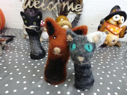 Gruppenkuscheln Fingerspielpuppen Katzen