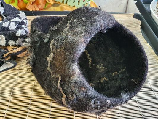Gefilzter Korb von Teilnehmerin Petra