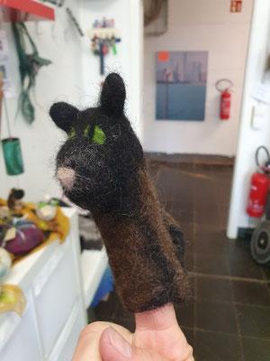 Fingerspielpuppe Katze