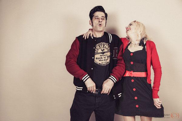 Retro & Rock ´n roll - (c) die Schnappschützen #retroshoot #coupleshoot #paarshootingkoeln #rockabilly #50erjahre #fotografkoeln