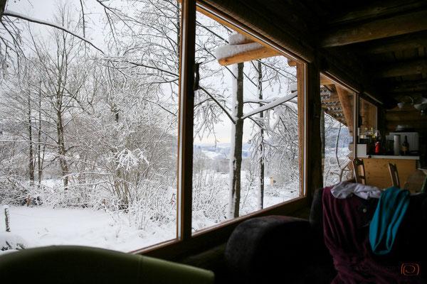 Panoramablick aus dem Wohnzimmer des Chalet in den Vogesen Frankreich - reiseblog by Schnappschützen - www.schnappschuetzen.de