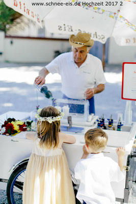 Schnee-Eis, Veranstaltung für eine Hochzeit