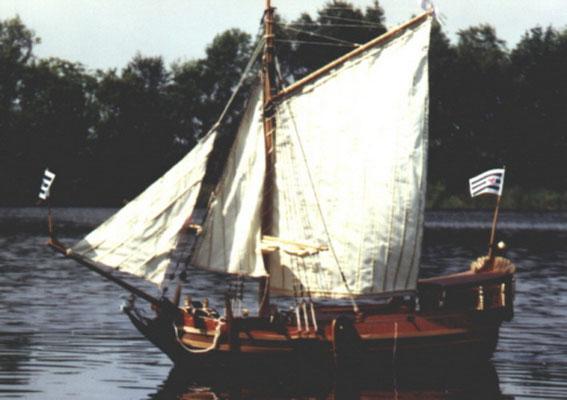 """Kurfürstliche Yacht """"Goldene Yacht"""" Eigner: Gerhard Steenhusen"""