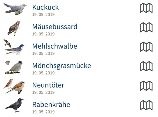 "Screenshot neue ""NABU-Vogelwelt-App"""