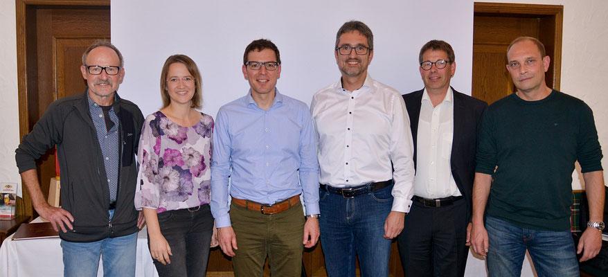 v.l.n.r.: Josef Schenk, Angelika Benninger, Johannes Enssle (Vorsitzender NABU-Landesverband BW), Hariolf Löffelad, Bernd Kreidler, Robert Krämer
