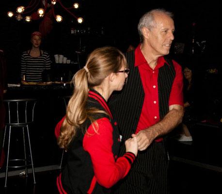 Karl-Heinz mit Tanja beim Tanzen