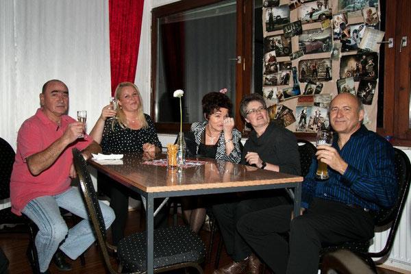Peter, Sabine, Renate, Jutta und Klaus