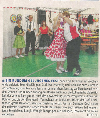 Presseartikel im Tuttlinger Wochenblatt vom 25.09.14
