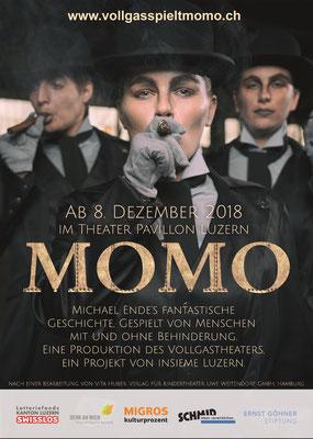 "Plakat | Vollgastheater ""MOMO"" |2018"