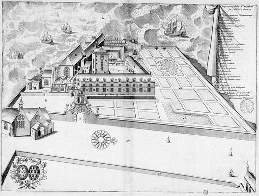 Die Abtei im 17. Jahrhundert