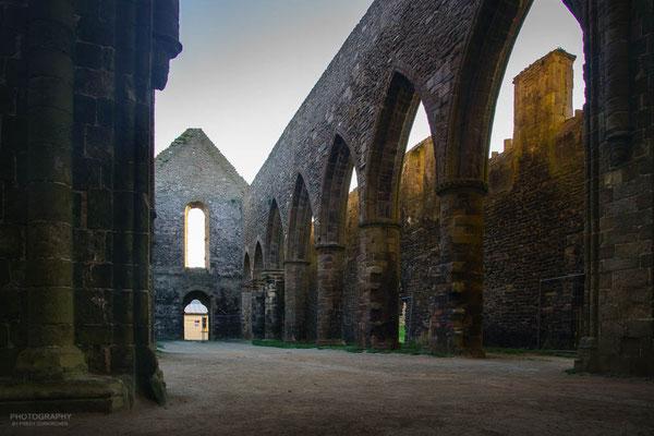 Das nach der französischen Renovation zerstörte und verlassene Kloster.