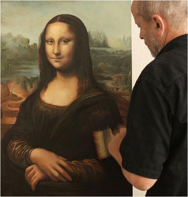 Kopie der Mona Lisa, Öl auf Pappelholz
