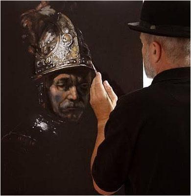 """Kopie """"Der Mann mit dem Goldhelm"""" Öl auf Leinwand"""