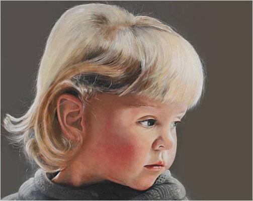 Portrait Lara, 80 x 100 cm, Öl auf Leinwand