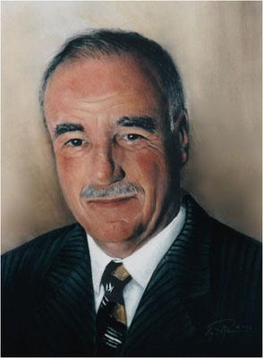 Günter Neurohr 1976-2000 Oberbürgermeister von Radolfzell Original Pastell im Rathaus Radolfzell